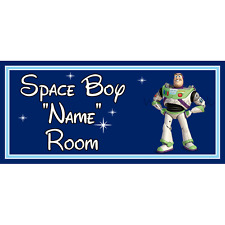 Personalised Disney Space Boy Kids Bedroom Door Sign Toy Story Buzz Lightyear DB