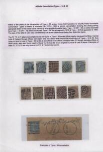 INDIA QV COVERS AND STAMPS--ALL INDIA  WITH CANCELLATIONS TYPES 34&35