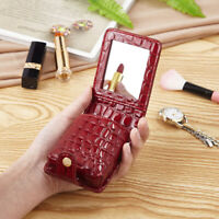 Women Makeup Lipstick Case Holder Box Portable PU Alligator Travel Makeup Bag