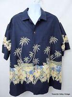 "Winnie Fashion 3XL Aloha Shirt Cotton Made in Hawaii Mens Hawaiian 54"" Chest"