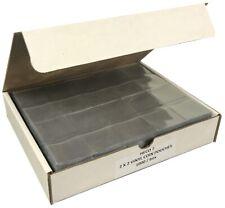 Vinyl 2x2 Coin Flips Bulk Economy Box Of 1000 Double Pocket Soft Safe Pouches