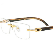 Luxury Natural Buffalo Horn Eyeglasses frames Rimless Glasses RX able Unisex