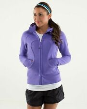 lululemon scuba hoodie with stretch side panels and thumbholes purple size 8