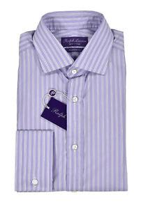 Ralph Lauren Purple Label Sartorial Aston French Cuff Dress Shirt New $595