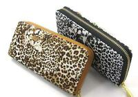 Ladies Womens Girls Leather Zip   Purse Coin Wallet Card Holder Leopard Print