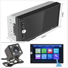 New listing 1Pcs Universal Car Mp5 Player 7 inch Touch Screen 2 Din with Rear View Dash Cam