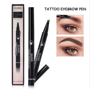 Waterproof 4 Fork Eyebrow Pencil Eye Brow Eyeliner Natural Makeup Beauty Black