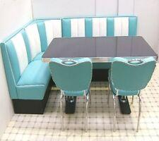 Retro Furniture 50s American Diner Restaurant Kitchen Corner Booth Set 130 x 210