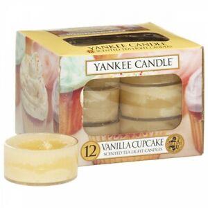 ❀ڿڰۣ❀ YANKEE CANDLE Set Of Twelve VANILLA CUPCAKE Scented TEALIGHT CANDLES ❀ڿڰۣ❀
