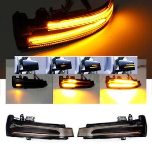 2x Dynamic LED Side Mirror Turn Signal Sequential Light For Benz W204 W212 W176