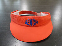VINTAGE The Gap Beach Visor Orange Blue Strap Back Adjustable Mens 90s