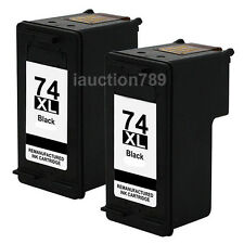 2 Compatible Ink HP 74XL Cartridge for HP C4480 C4580 C4599 C5200 C5240 C5250
