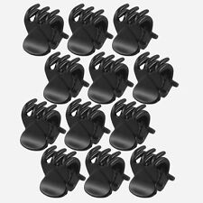 Mini Hairpin 12 Pcs Black Plastic Newest 6 Claws Hair Clip Clamp for Ladies U87
