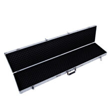 "53"" Long Aluminum Locking Rifle Gun Case Shotgun Storage Box Carry Case w/ Keys"