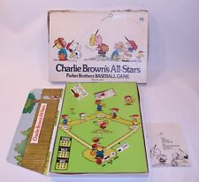 VTG Charlie Browns All Stars Baseball Parker Brothers Board Game 410 1965 Comple