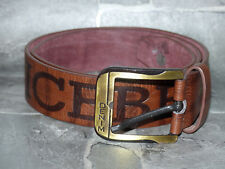NEW ICEBERG HISTORY Casual Denim Leather Belt Brown Large Label Size: 33 NEW