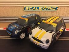 Scalextric Mini Cooper No5 & No15 Both DPR & in Excellent Condition