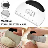 Stainless Steel Pastry Dough Cutter Scraper Scale Kitchen Tool Making Bread HOT