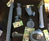 Stock Gedy Oscar Set completo 8 accessori da bagno resina blu biadesivo viti