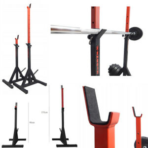 SQUAT RACK Adjustable Gym Power Rack Barbell Stands Weight Bench Heavy Duty!