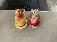 More details for vintage lot of napcoware mouse in bell figures figurines japan 1960s all perfect