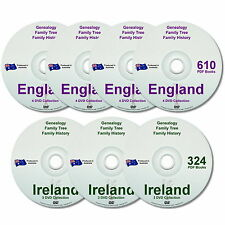 Genealogy Family History England Ireland 934 Old Historic Books 7 New DVDs