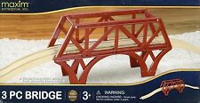 Maxim 50980~3-Pc Wooden Bridge~Up-Over Track~Thomas/Brio/Maxim-B oys & Girls 3+