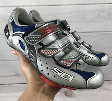 Sidi Mens Cycling Shoes Blue Silver 8-8.5 US/ 41 EU