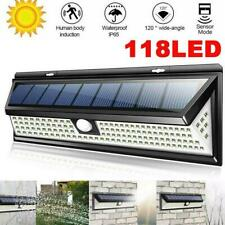 118 LED Solar Powered PIR Motion Sensor Wall Security Light Lamp Garden Outdooru