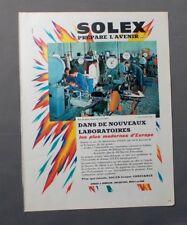 PUB PUBLICITE ANCIENNE ADVERT CLIPPING 270917 LABORATOIRE SOLEX PRÉPARE L'AVENIR