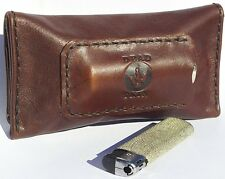 Brown Leather cigarette Tobacco Pouch Handmade case REAL leather AU crafter