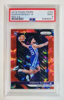 2018/19 Panini Prizm MARVIN BAGLEY RED ICE RC/ ROOKIE CARD KINGS #181 PSA 9 MINT