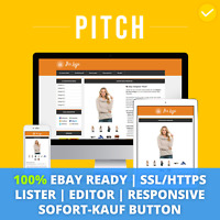 PITCH ORANGE eBay Template 2019 Responsive Ebayvorlage Auktionsvorlage SSL/HTTPS