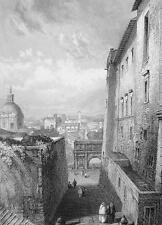 ITALY Rome Arch of Septimus Severus - 1861 Engraving Antique  Print