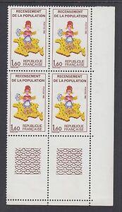 "France Maury 2204a MNH. 1982 Census, block w/ missing ""7"", ERROR"