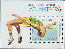 LAOS Bloc N°133** Bf jeux olympiques Atlanta, saut, 1996, olympic games MNH