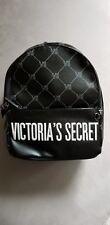 Victoria's Secret City Mini Backpack Black W/ White Stitch Design VS Logo