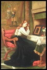 "* 36""x24"" Oil Painting on Canvas, Lady with Red Hair, Hand Painted"