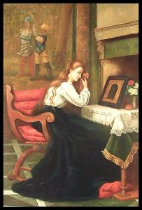 """36""""x24"""" Oil Painting on Canvas, Lady with Red Hair, Hand Painted"""