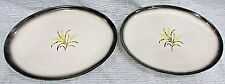 Pair Princess China True-Tone Hand Decorated Wheat USA Old Oval Platters FREE SH