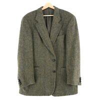 Harris Tweed 100% Laine Marron Veste Blazer Taille US/UK 42 Taille