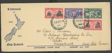 New Zealand, Fdc, #229-31, W/Clean Blue Cachet, 1940