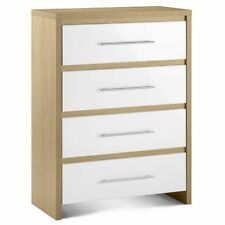 Oak Contemporary 4 Chests of Drawers