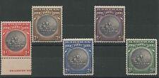 Bahamas SG126-130 1930 Tercentenary Wmk Mult Script CA Perf 12 Mounted mint