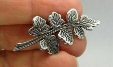 Vintage 925 Sterling Silver Brooch Signed LUELLA C. SCHROEDER MODERNIST Leaf