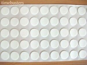 50 Sticky Double Sided White Foam Candle Wick Stickers Pads Glue Dots 18mm