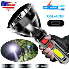 Super Bright LED Flashlight Tactical Hiking Camping Torch USB Rechargeable