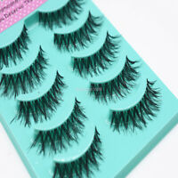 5 Pair 3D Natural False Eyelashes Wispy Cross Long Soft Fake Eye Lashes Makeup A
