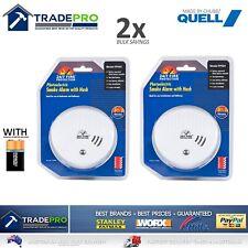 2x Smoke Alarm Fire Detector Quell® Made 24/7 Photoelectric Quality Bonus 9VBatt