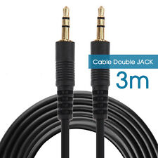 3.5mm 3 mètres Prise Dorées JACK Male Male CABLE CORDON AUXILIAIRE AUDIO STEREO